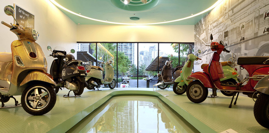 Vespa Galleria Bangkok by Supermachine