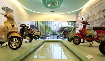 Vespa Galleria Bangkok by Supermachine