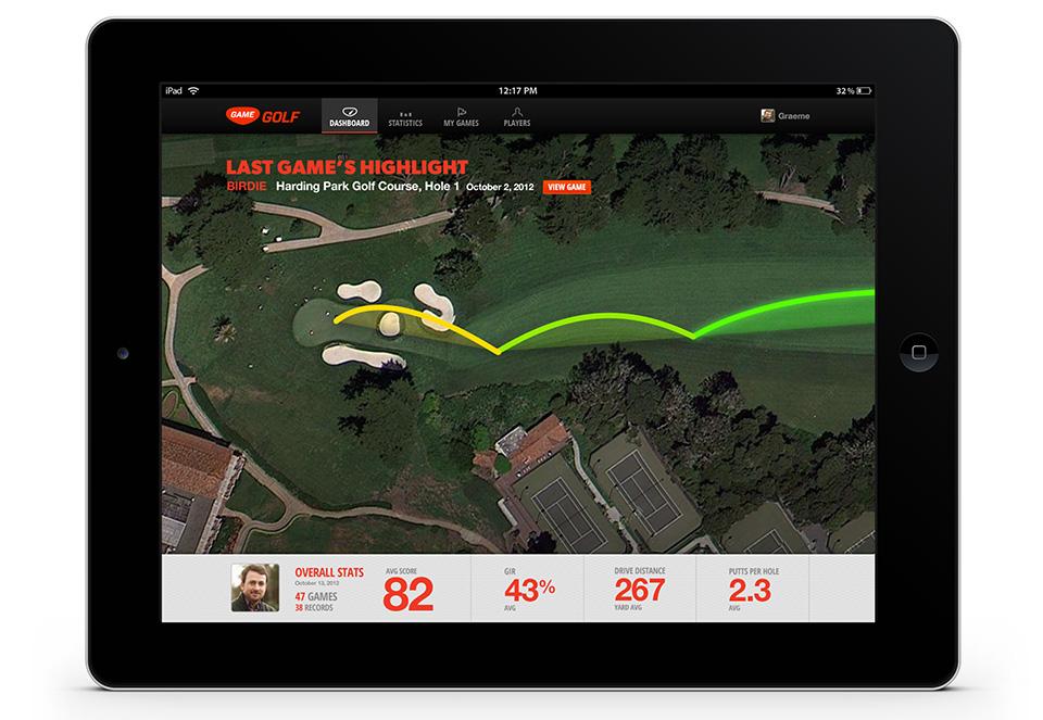 GAME Golf swing tracker 3