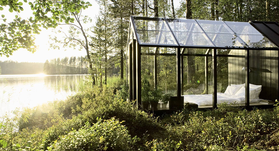 Glass Garden Shed by Ville Hara and Linda Bergroth 1 10 Glass Houses: Where the Beauty of the World Is Your Wallpaper
