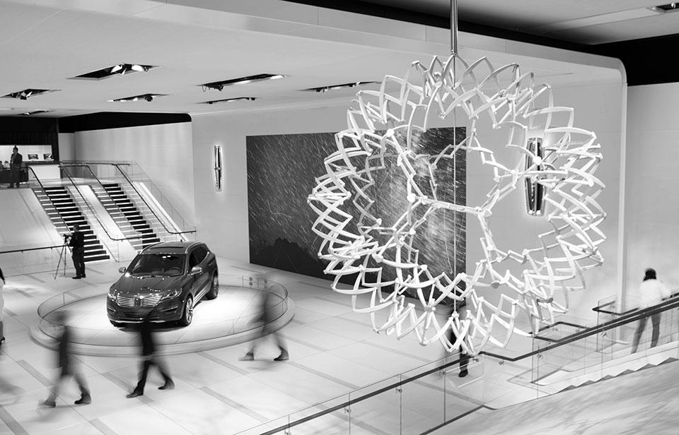 NAIAS 2014 Day One Auto Show Architecture Full Bloom The Architecture of the Auto Show: 2014