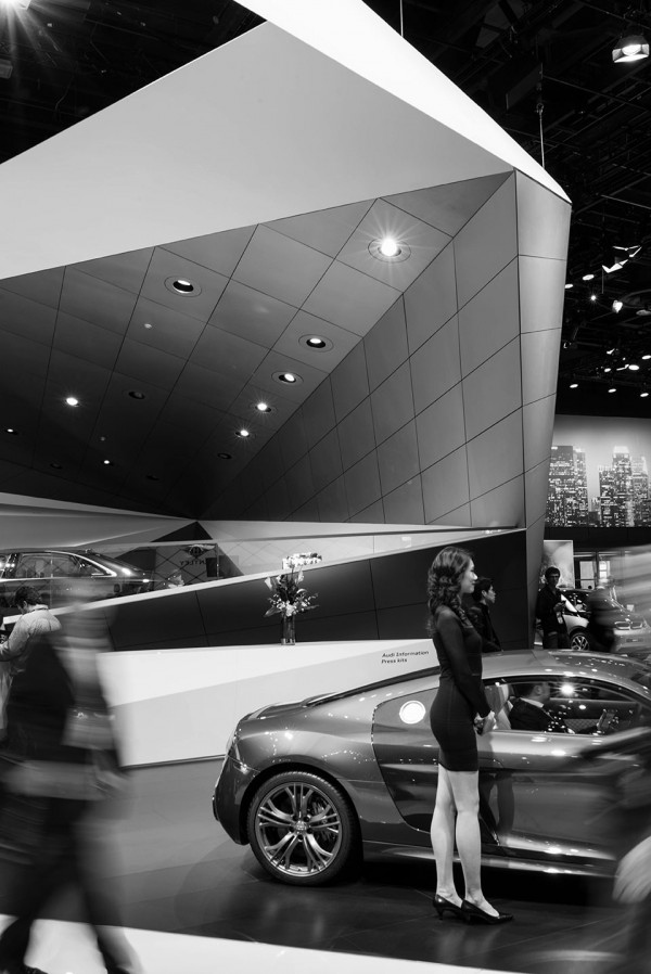 NAIAS 2014 Day One Auto Show Architecture Human Element 600x898 The Architecture of the Auto Show: 2014
