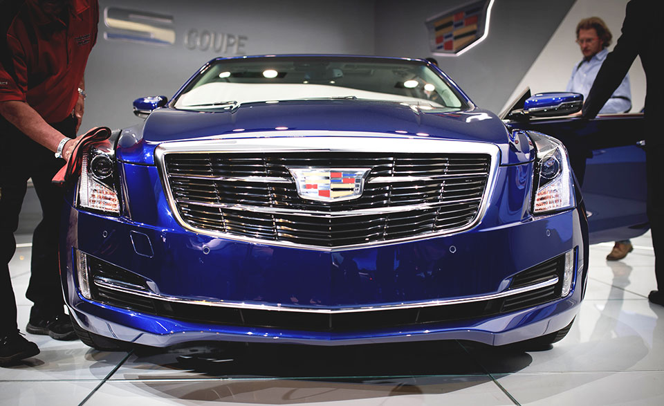 NAIAS 2014 Day Two ATS Coupe Reveal front end loved The 2015 Cadillac ATS Coupe Steps Forward