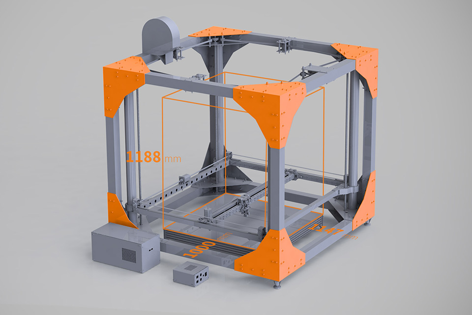 Bigrep large scale 3d printer for 3d printer layouts
