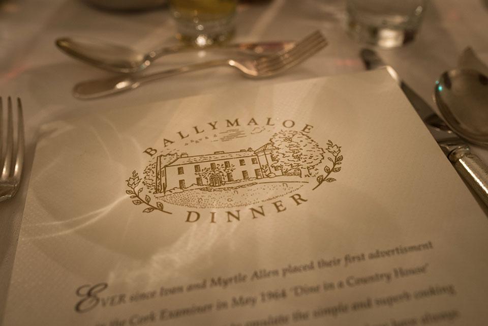 Ballymaloe Dinner Menu © 2014 - Seamus Payne