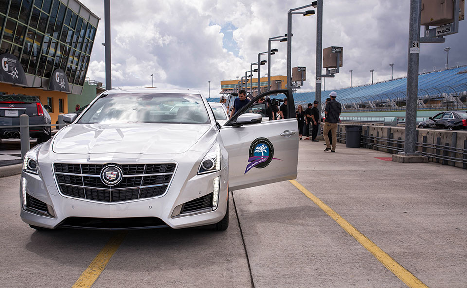 Cadillac-V-Series-Charity-Event-at-Trump-Doral—Cadillac-CTS-Drag-Racer-pre-race