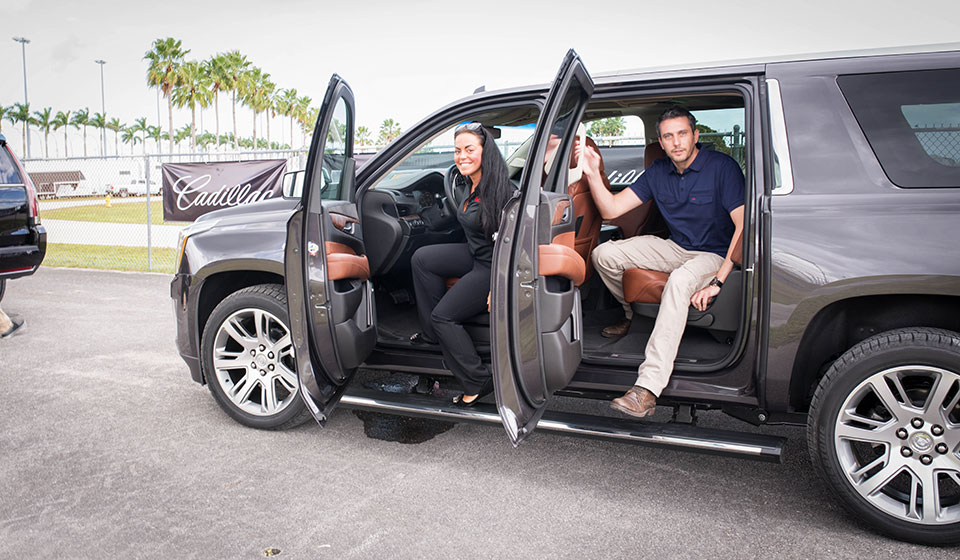 Cadillac-V-Series-Charity-Event-at-Trump-Doral—Escalade-Chaperone-to-the-Pit