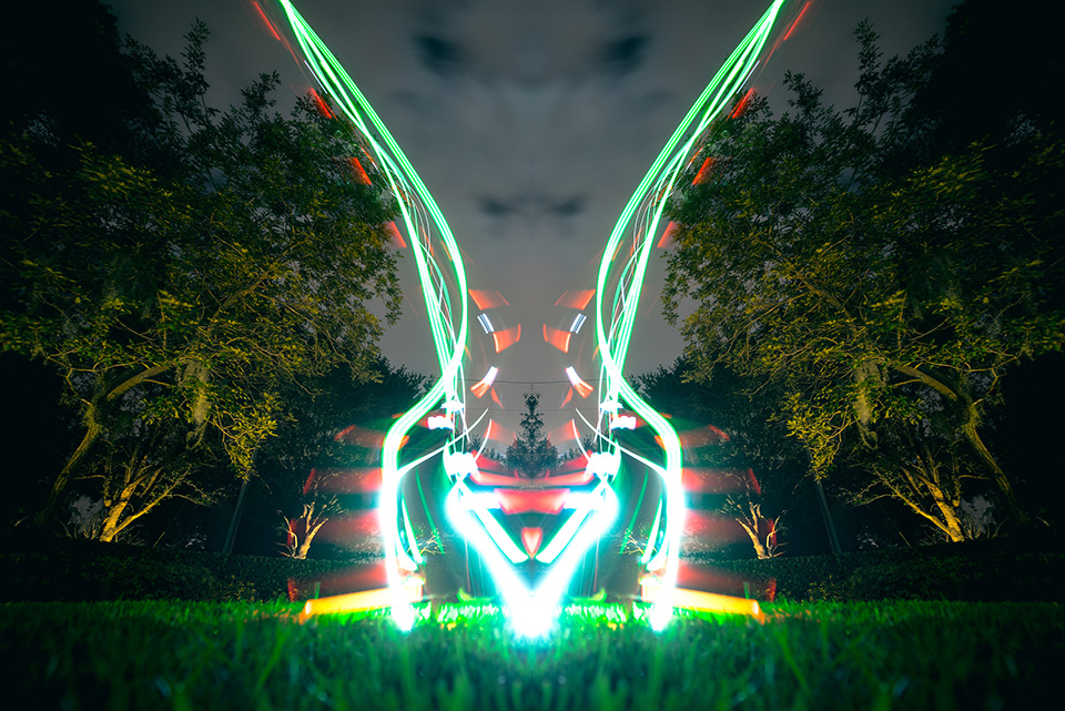 Drone Light Painting by FICTION 1