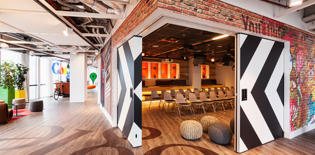 Dutch Firm Turns Google's Amsterdam Office Into An Homage To The Company's Roots – A Garage