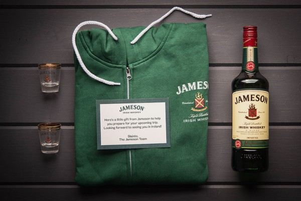 Jameson Welcome Pack Contents 600x401 Discovering the Irish Origin of the Jameson Story
