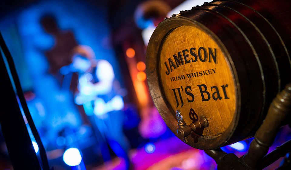 Old Jameson Distillery - Private Concert - Jameson Barrel with Band © 2014 - Seamus Payne