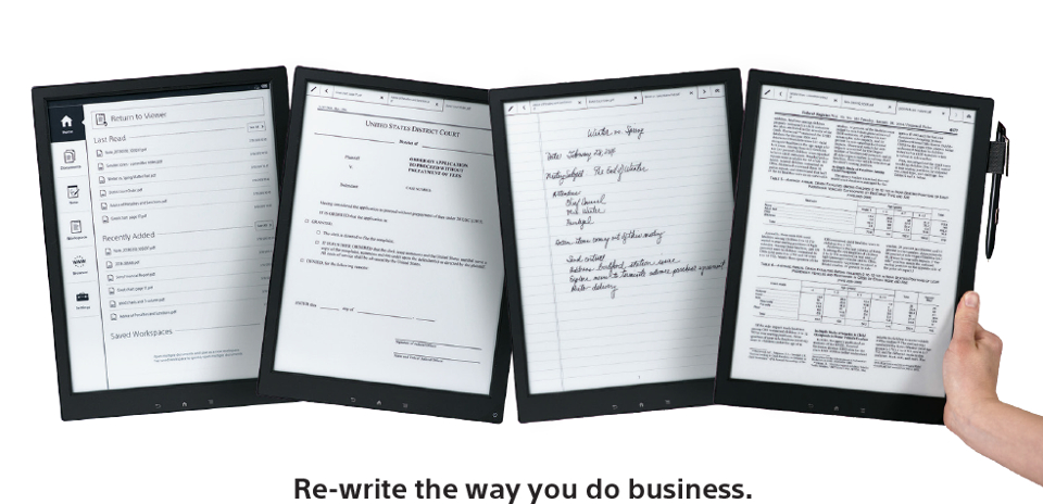 Sony Paper Rewrite Business
