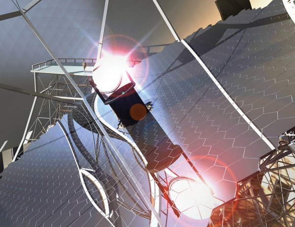 TMT Primary Mirror Concept 600x463 The Worlds Largest Telescope Approaches Construction