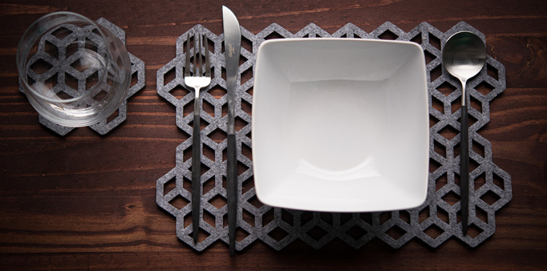 Laser-Cut Wool Placemats by Alljoy Design