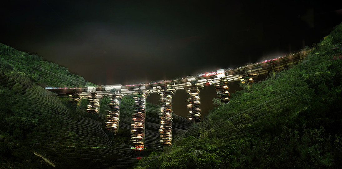 Ruined Bridges In Italy Could Become Futuristic Vertical Cities