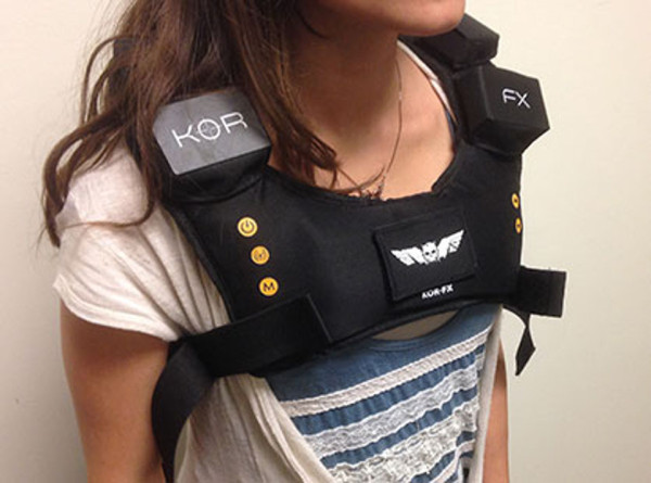 KOR FX Worn 2 600x445 KOR FX Vest Will Let You Truly Feel Your Games