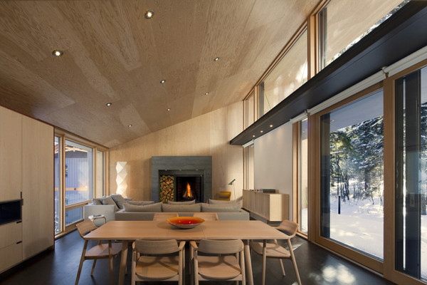 Kicking Horse Residence by Bohlin Cywinski Jackson and Bohlin Grauman Miller Architects 11 600x400 Kicking Horse Residence   British Columbia