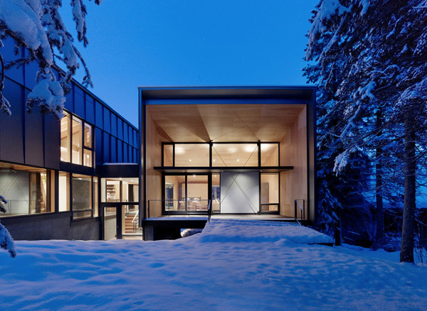 Kicking Horse Residence by Bohlin Cywinski Jackson and Bohlin Grauman Miller Architects 5 600x438 Kicking Horse Residence   British Columbia