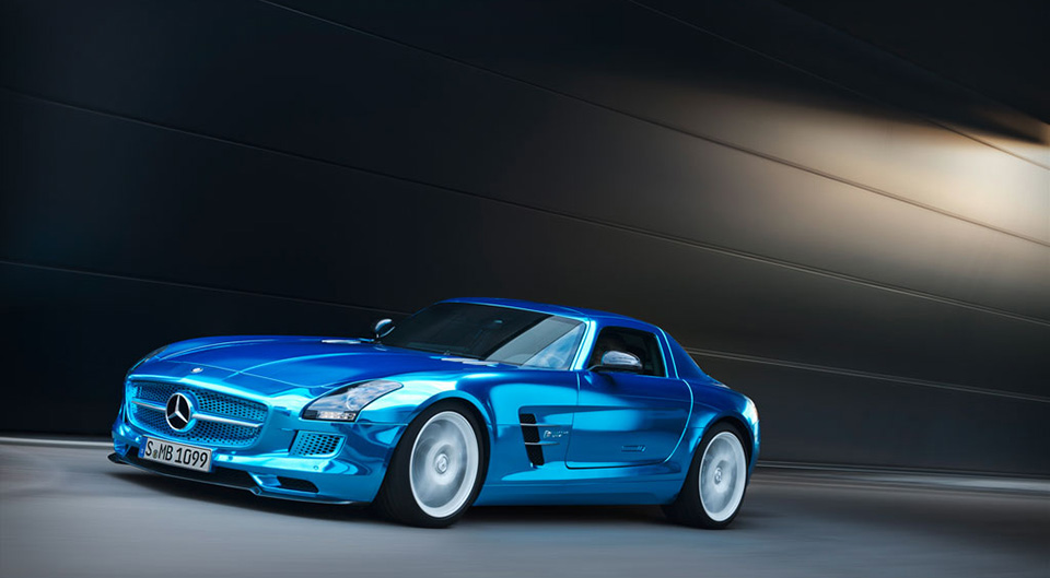 Luxury Electric Car - Mercedes-Benz SLS AMG Coupé Electric Drive 1