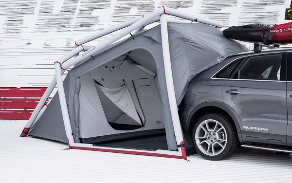 Audi Q3 and Heimplanet Tent 2 600x376 Audi Q3 Tent by Heimplanet: High Performance Camping