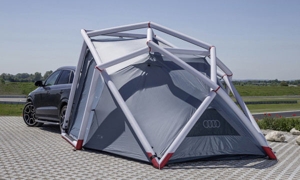Audi Q3 and Heimplanet Tent 4 600x361 Audi Q3 Tent by Heimplanet: High Performance Camping