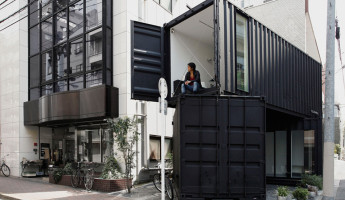 Shipping Container Art Gallery by Tomokazu Hayakawa Pops Up in Tokyo