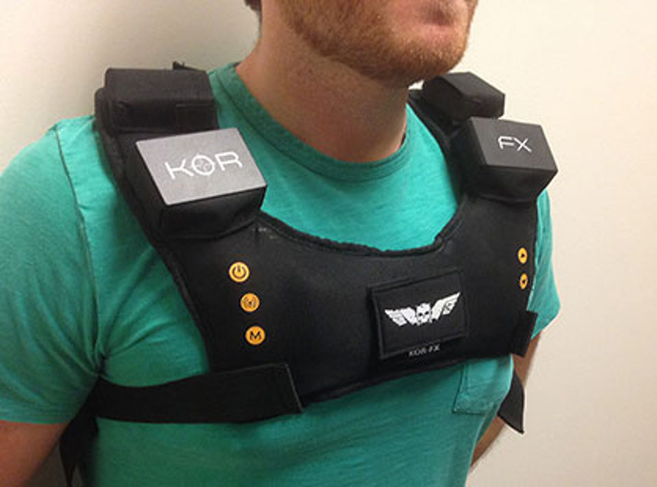 Future Gaming Technology 2014 – Kor FX Gaming Vest 2
