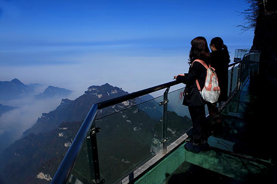 Highest Observation Decks - Tianmen Mountain Glass Platform 1