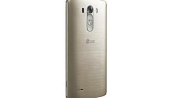 LG G3 Smartphone angle brass