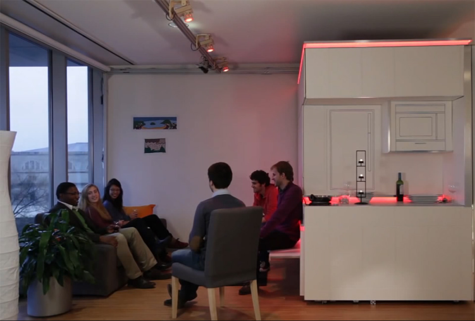 MIT CityHome Modular Gesture Controlled Living Console 5