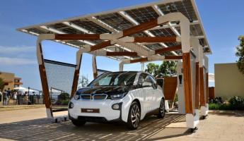 Solar Charging Garage 345x200 BMW Solar Carport Provides Grid Free Driving