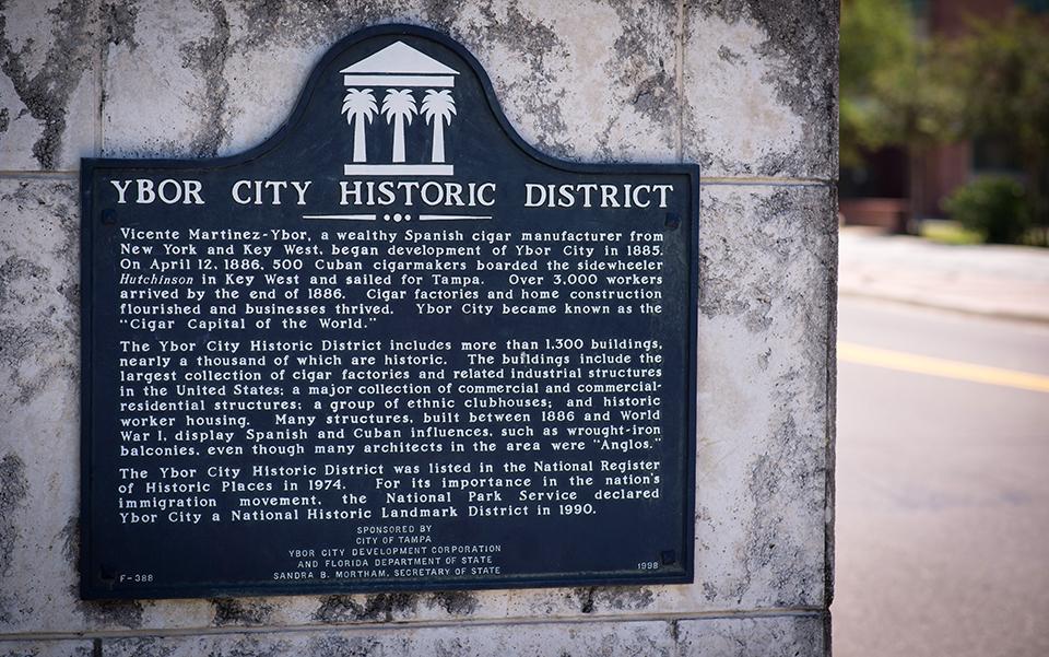 Ybor-City-Cigar-Capitol---Historic-District-Sign