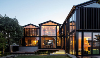 Shapeshifting Boatsheds by Strachan Group Architects