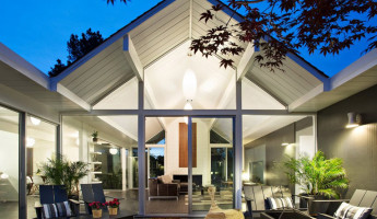 Double Gable Eichler Remodel by Klopf Architecture Helps Create Stronger Family Ties