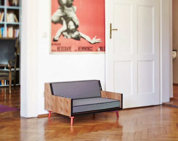 rosi rufus pet furniture for urban pets 1 600x476 Luxury Barkitecture: Rosi & Rufus Design Dapper Digs for Dogs