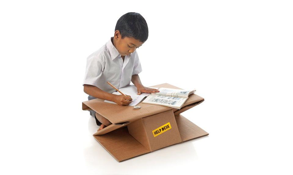Aarambh Helpdesk Cardboard Desk 2 Aarambh Help Desk is a Transformative Gadget for the Poor