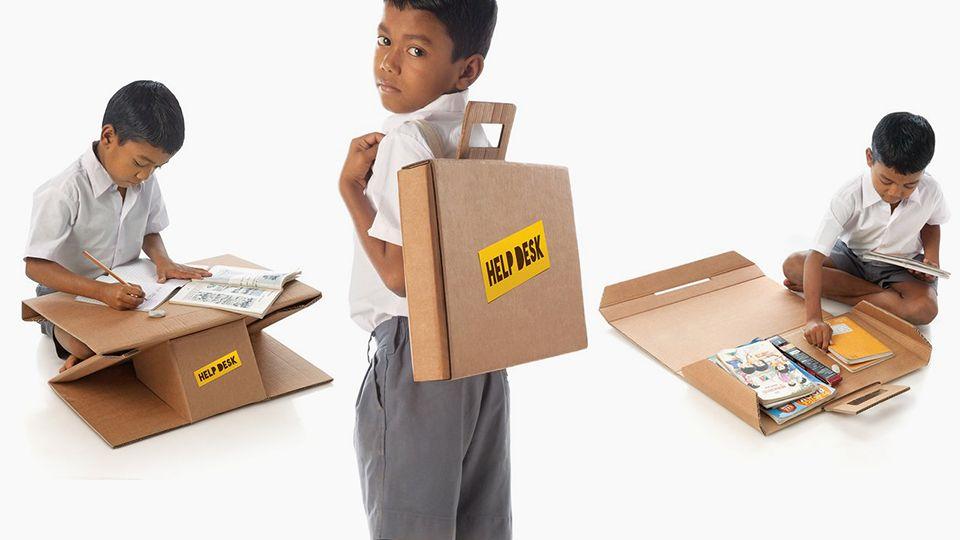 Aarambh Helpdesk – Cardboard Desk for Poor Students