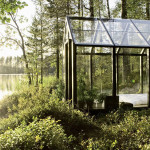 Contemporary Cabins - Glass Garden Shed
