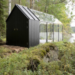 Contemporary Cabins - Glass Garden Shed 1