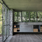 Contemporary Cabins - Green Box Overgrown Wilderness Studio 3