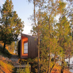 Contemporary Cabins - Lakefront Sauna by Panorama Arquitectos