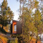 Contemporary Cabins - Lakefront Sauna by Panorama Arquitectos