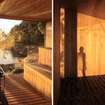 Contemporary Cabins - Lakefront Sauna by Panorama Arquitectos 4