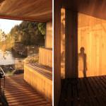 Contemporary Cabins - Lakefront Sauna by Panorama Arquitectos 4