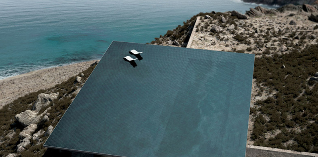 Modern infinity pool of the Mirage House