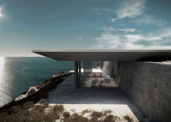 Mirage House by Kois Associated Architects 5 600x428 A Modern Infinity Pool for a Bond Villain
