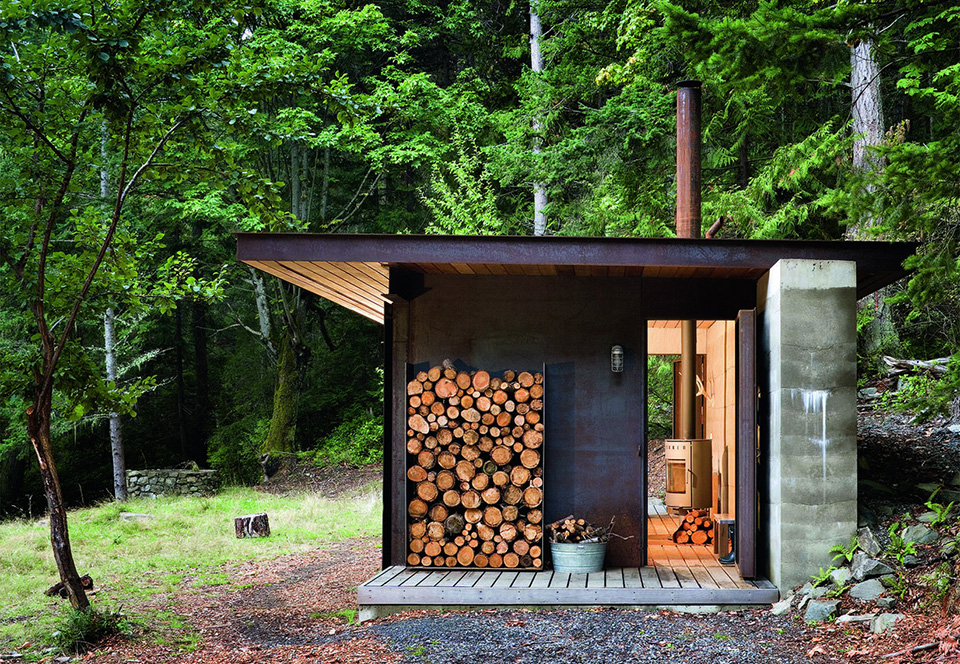 View In Gallery Contemporary Cabins   Olson Kundig Architects Gulf Island  Cabin 1