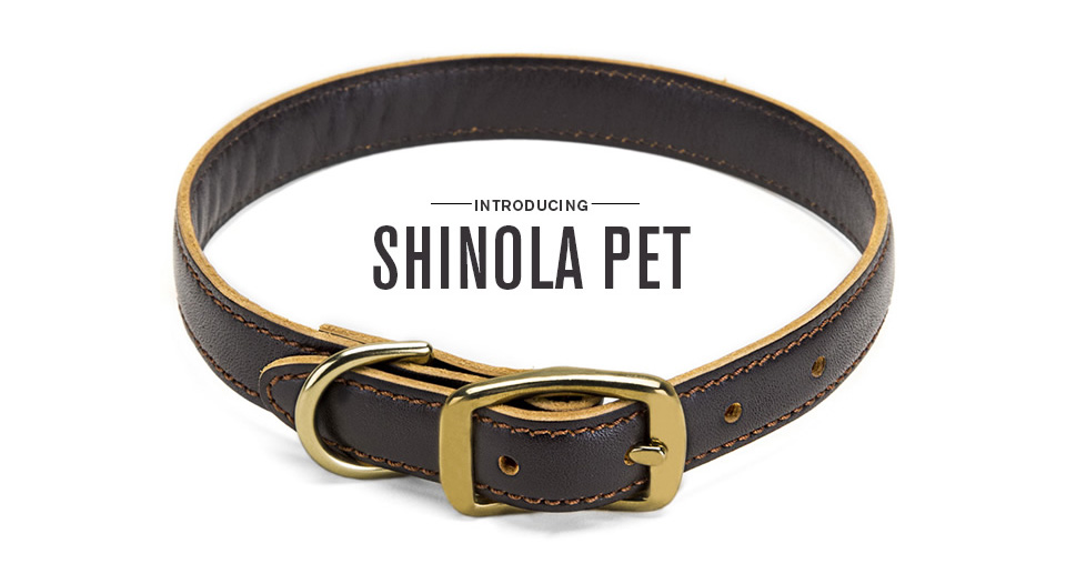 Shinola Pet Leather Collar