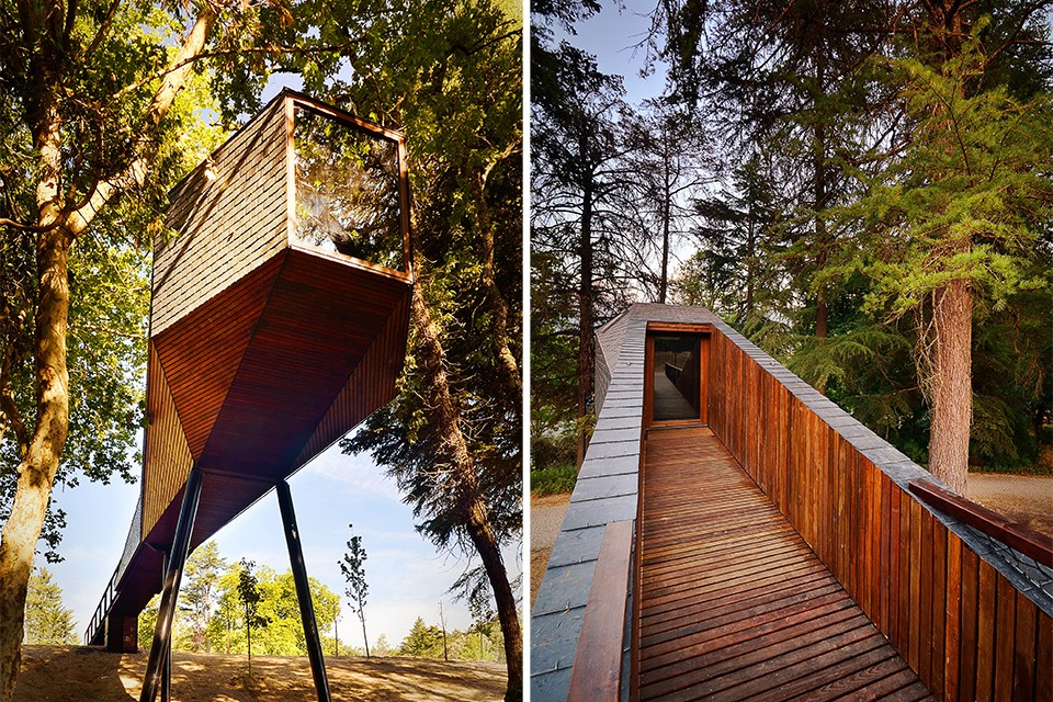 Contemporary Cabins - Tree Snake House by Luis and Tiago Rebelo Andrade