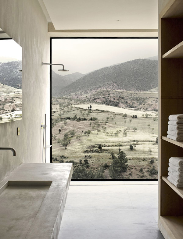 Villa E Morocco by Studio KO 2 600x781 Morocco Villa by Studio KO is a Modern Mountain Fortress